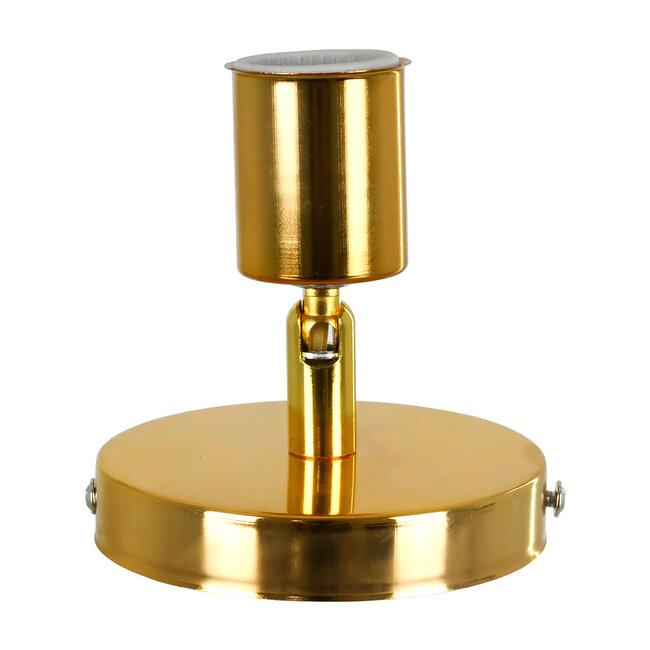SARA 00845 Μοντέρνο Φωτιστικό Οροφής / Τοίχου Μονόφωτο 1xE27 Μεταλλικό Χρυσό Φ10 x Υ10.3cm - 4