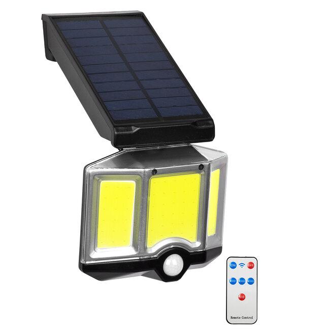 GloboStar® 71482 Αυτόνομος Ηλιακός Προβολέας LED COB 20W 1500lm με Ενσωματωμένη Μπαταρία 2400mAh - Φωτοβολταϊκό Πάνελ με Αισθητήρα Ημέρας-Νύχτας - PIR Αισθητήρα Κίνησης και Ασύρματο Χειριστήριο IR Αδιάβροχο IP65 Ψυχρό Λευκό 6000K - 2