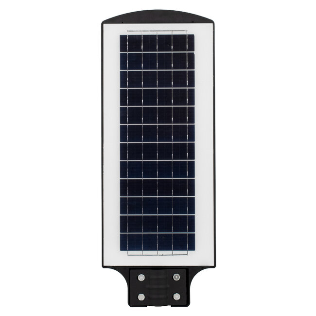 GloboStar® 71552 Αυτόνομο Ηλιακό Φωτιστικό Δρόμου Street Light All In One LED SMD 150W 12000lm με Ενσωματωμένη Μπαταρία Li-ion 9000mAh - Φωτοβολταϊκό Πάνελ με Αισθητήρα Ημέρας-Νύχτας PIR Αισθητήρα Κίνησης και Ασύρματο Χειριστήριο RF 2.4Ghz Αδιάβροχο - 5