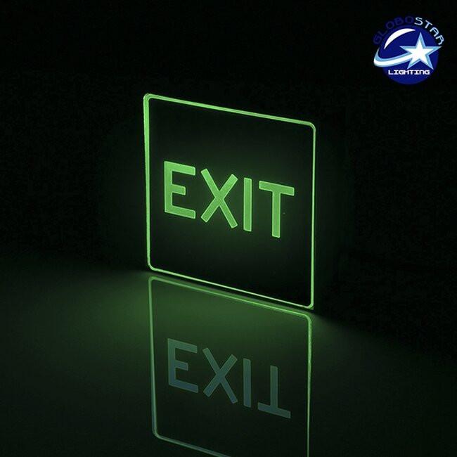 Φωτιστικό LED Ασφαλείας Αλουμινίου EXIT με Μπαταρία Λιθίου 350mAh GloboStar 75506 - 2