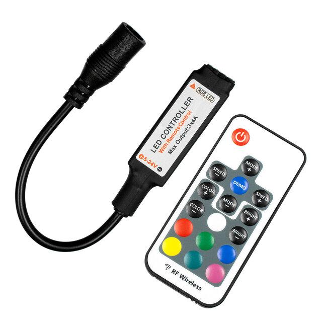 GloboStar® 73420 Ασύρματος LED Controller RGB με Χειριστήριο RF 2.4Ghz DC 5-24V Max 288W - 2