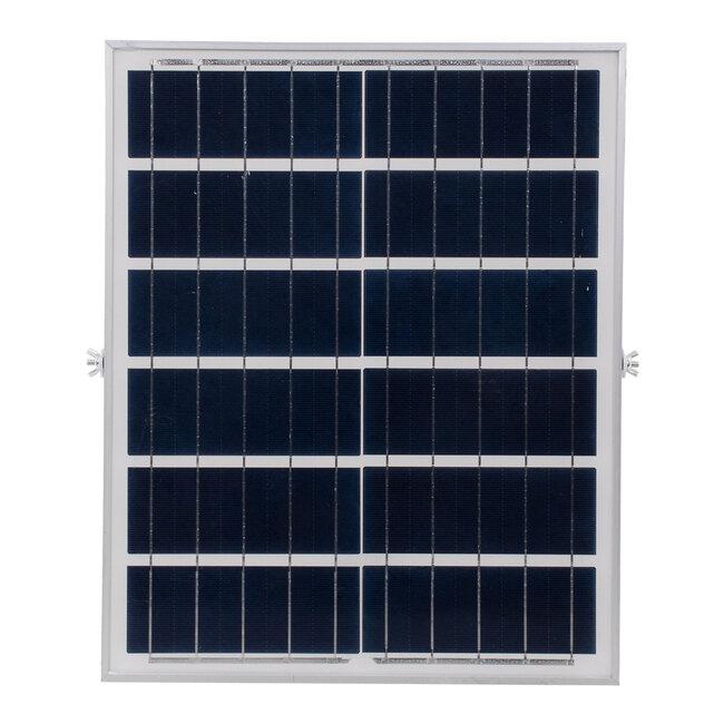 71556 Αυτόνομος Ηλιακός Προβολέας LED SMD 60W 4800lm με Ενσωματωμένη Μπαταρία 10000mAh - Φωτοβολταϊκό Πάνελ με Αισθητήρα Ημέρας-Νύχτας και Ασύρματο Χειριστήριο RF 2.4Ghz Αδιάβροχος IP66 Ψυχρό Λευκό 6000K - 8
