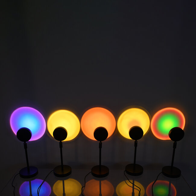 GloboStar® 00816 Μοντέρνο Επιτραπέζιο Φωτιστικό Μονόφωτο Μεταλλικό LED 12W DC 5V Rotation 180° RAINBOW GREEN - 4