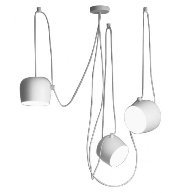SET 3 Μοντέρνα Κρεμαστά Φωτιστικά Οροφής Μονόφωτα Λευκά Μεταλλικά Καμπάνα Φ25 GloboStar BOLLE 01376 - 2