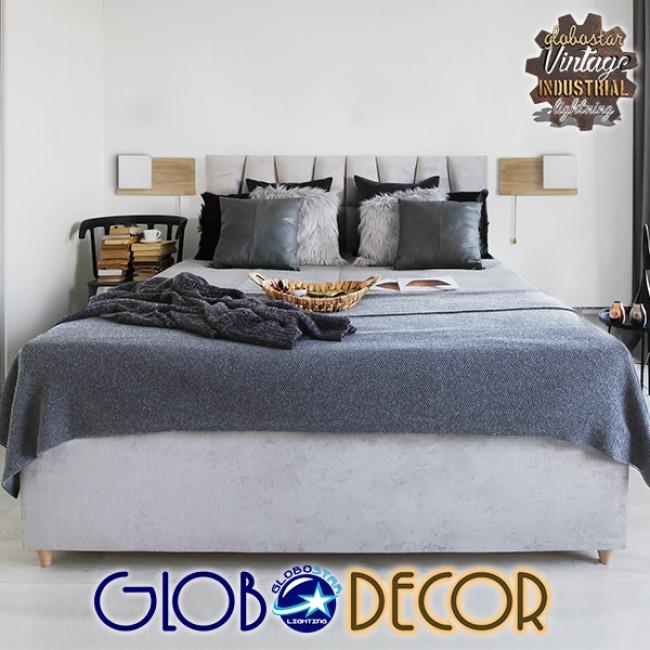 Μοντέρνο Φωτιστικό Τοίχου Απλίκα Ραφάκι Μονόφωτο Ξύλινο με Λευκό Ματ Γυαλί GloboStar AMITY RIGHT 01366 - 14
