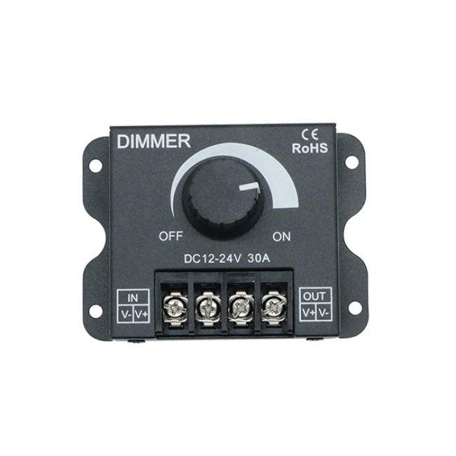Εξωτερικό Dimmer Knob 12-24 Volt 30 Ampere 360/720 Watt GloboStar 50041 - 3