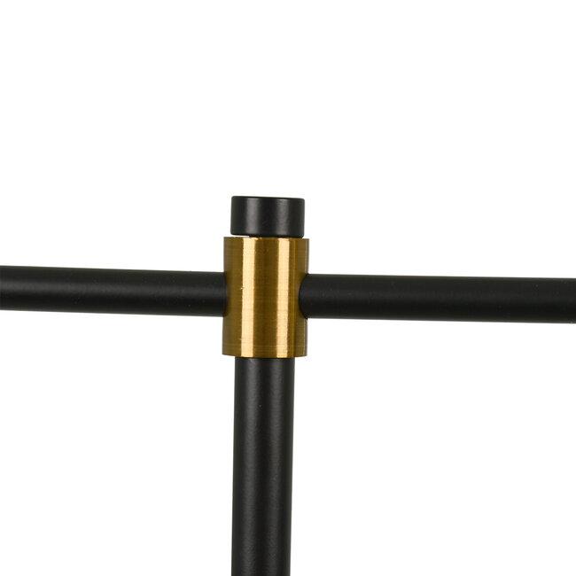 LETO 00835 Μοντέρνο Επιτραπέζιο Φωτιστικό Γραφείου Μονόφωτο Μεταλλικό Μαύρο Χρυσό Φ12.5 x Μ18 x Π18 x Υ50.5cm - 6