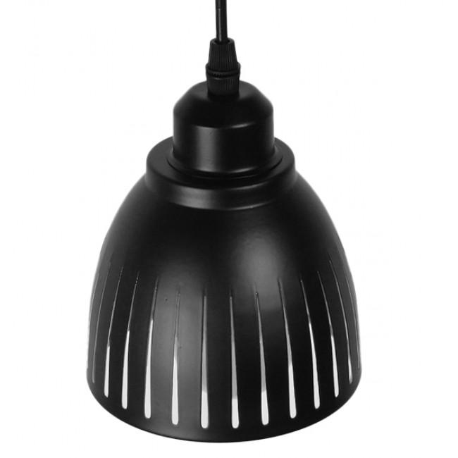 Μοντέρνο Κρεμαστό Φωτιστικό Οροφής Μονόφωτο Μεταλλικό Μαύρο Λευκό Καμπάνα Φ13 GloboStar CHERITH 01478 - 4