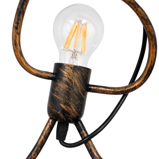 SET Μοντέρνο Κρεμαστό Φωτιστικό Οροφής Τρίφωτο Καφέ Σκουριά Μεταλλικό Φ45  LITTLE MAN IRON RUST 01656 - 3