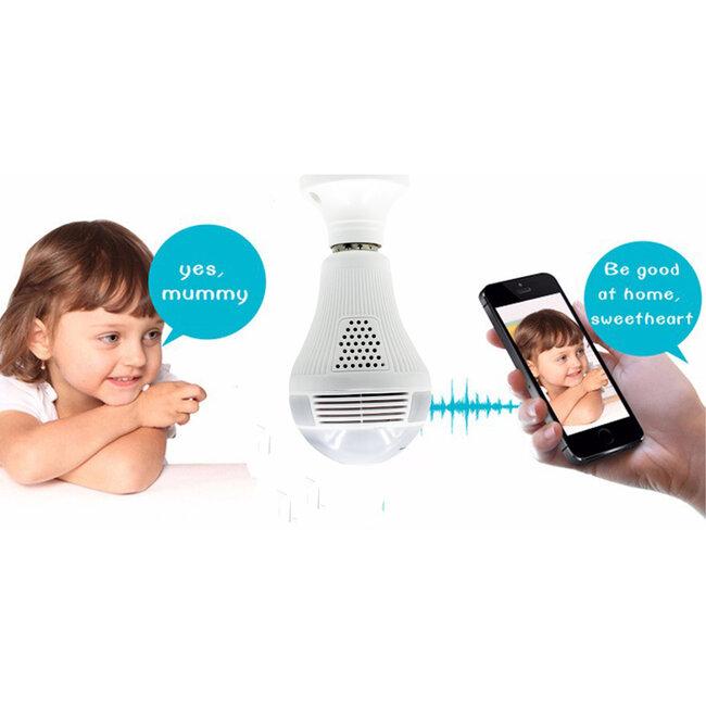 76073 WIFI 2.4G IP CAMERA 2.0MP 1080P - Έξυπνη Κρυφή IP Κάμερα WiFi 1080P Fish Eye 360° 3W LED σε Σχήμα Λάμπας με Ντουί και Βάση E27 Smart Home - 10