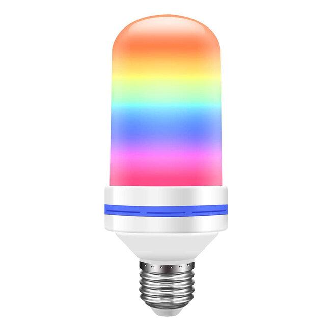 GloboStar® 76076 Λάμπα E27 TUBULAR Διακοσμητική LED 9W 450lm 320° AC 85-265V με 4 Λειτουργίες Εφέ RGB Φλόγας και Αναστροφή RGB Φλόγας - 5