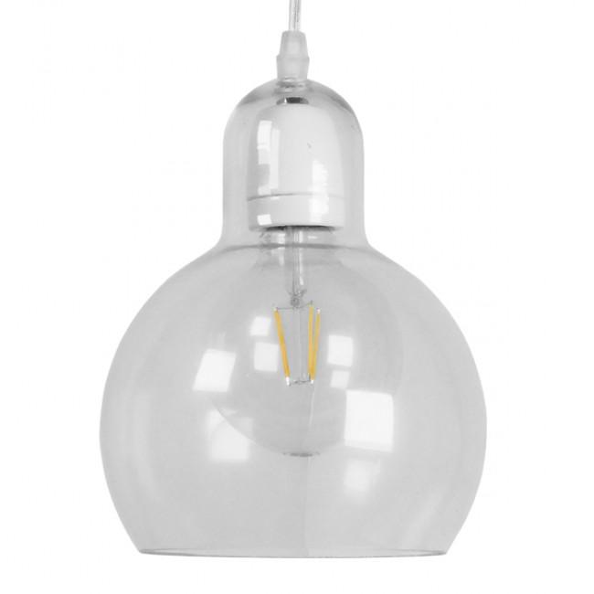 Μοντέρνο Κρεμαστό Φωτιστικό Οροφής Μονόφωτο Γυάλινο Διάφανο Φ18 GloboStar LUCREZIA 01314 - 3