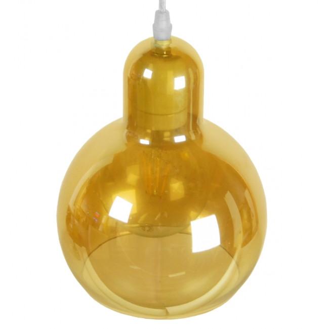 Μοντέρνο Κρεμαστό Φωτιστικό Οροφής Μονόφωτο Γυάλινο Μελί Διάφανο Φ18 GloboStar LUNATICA 01315 - 4