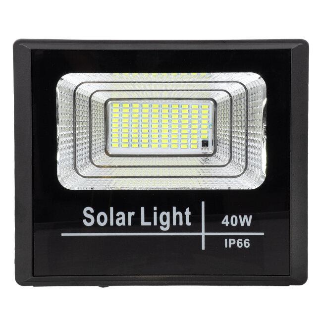 71555 Αυτόνομος Ηλιακός Προβολέας LED SMD 40W 3200lm με Ενσωματωμένη Μπαταρία 5000mAh - Φωτοβολταϊκό Πάνελ με Αισθητήρα Ημέρας-Νύχτας και Ασύρματο Χειριστήριο RF 2.4Ghz Αδιάβροχος IP66 Ψυχρό Λευκό 6000K - 5