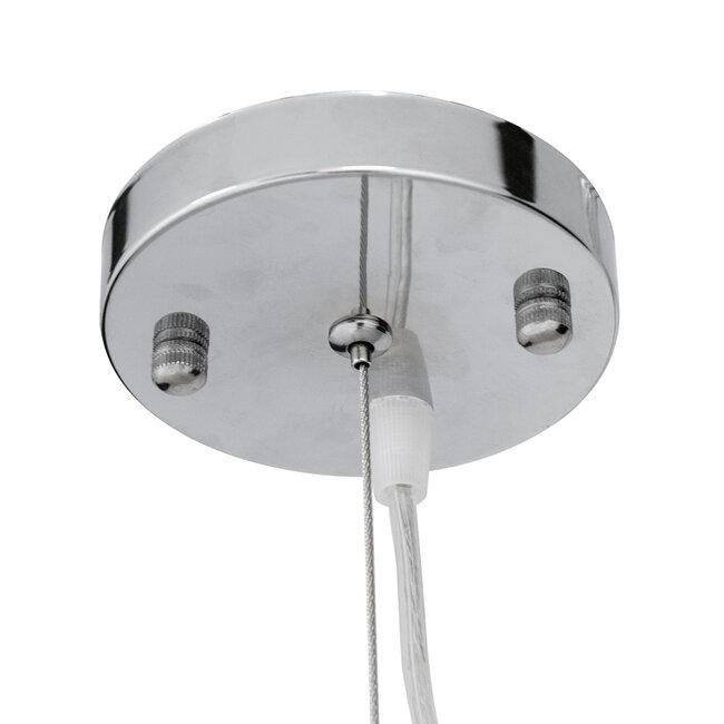 GloboStar® MALIBU 00967 Vintage Κρεμαστό Φωτιστικό Οροφής Μονόφωτο Λευκό Ξύλινο Bamboo Φ97 x Y86cm - 8