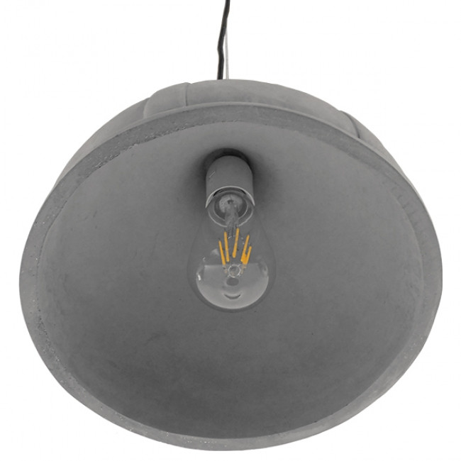 Μοντέρνο Industrial Κρεμαστό Φωτιστικό Οροφής Μονόφωτο Γκρι Τσιμέντο Καμπάνα Φ29 GloboStar GIRARD 01326 - 7