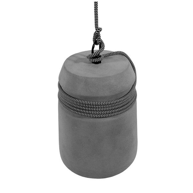 Μοντέρνο Industrial Κρεμαστό Φωτιστικό Οροφής Μονόφωτο Γκρι Τσιμέντο Καμπάνα Φ18  FELINI 01321 - 3