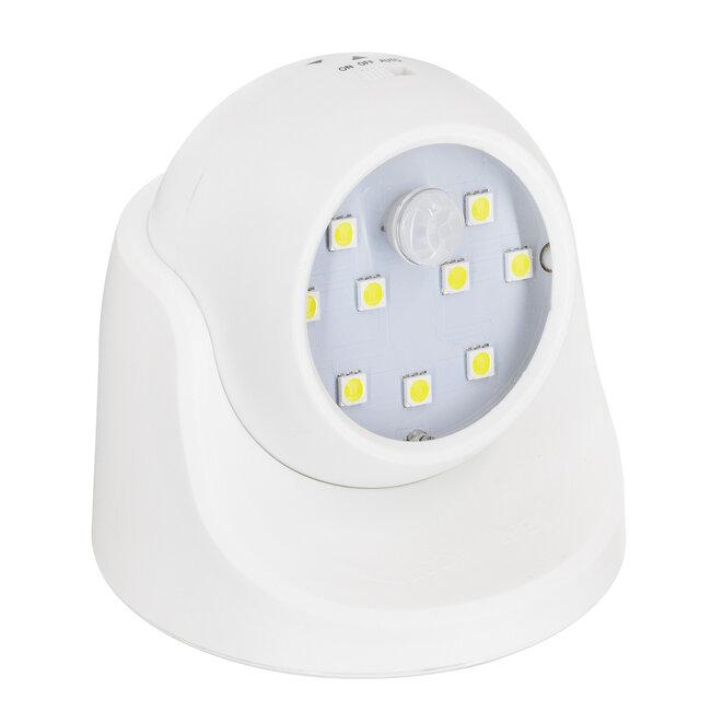 79000 Λευκό Φωτιστικό Μπαταρίας σε Σχήμα Κάμερας LED SMD 3W 300lm με Αισθητήρα Ημέρας-Νύχτας και PIR Αισθητήρα Κίνησης Ψυχρό Λευκό 6000K - 2