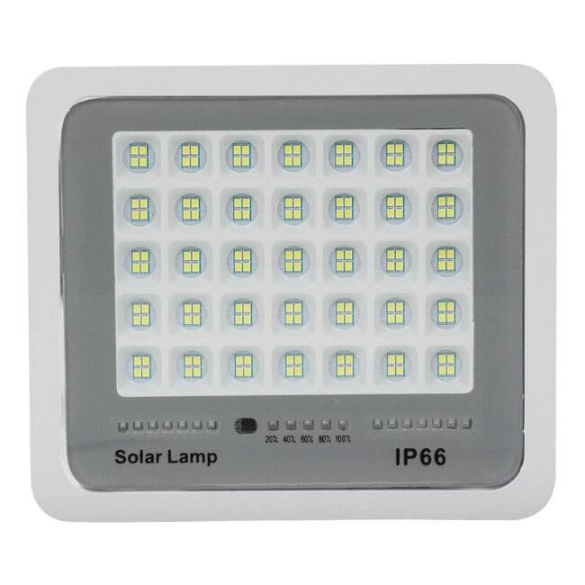 71559 Αυτόνομος Ηλιακός Προβολέας LED SMD 100W 12000lm με Ενσωματωμένη Μπαταρία 10000mAh - Φωτοβολταϊκό Πάνελ με Αισθητήρα Ημέρας-Νύχτας και Ασύρματο Χειριστήριο RF 2.4Ghz Αδιάβροχος IP66 Ψυχρό Λευκό 6000K - 5