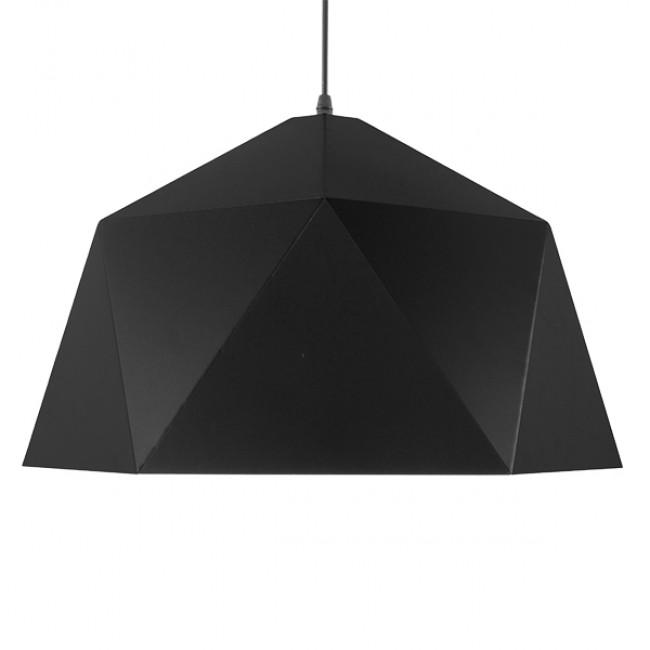 Μοντέρνο Κρεμαστό Φωτιστικό Οροφής Μονόφωτο Μαύρο Χρυσό Μεταλλικό Καμπάνα Φ46  SYLRA 01195 - 3