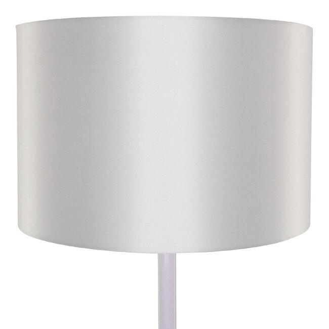 ASHLEY 00826 Μοντέρνο Φωτιστικό Δαπέδου Μονόφωτο Μεταλλικό Λευκό με Καπέλο και Ξύλινη Λεπτομέρεια Φ40 x Υ145cm - 6
