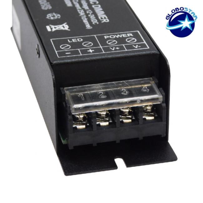 Ασύρματο LED RF SYNC Dimmer 12-24 Volt 300 Watt με Τηλεχειριστήριο GloboStar 04044 - 4