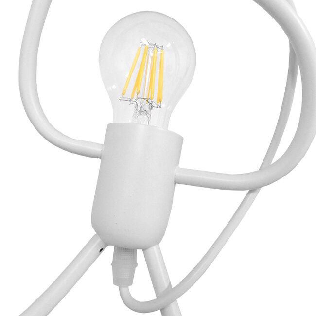 Μοντέρνο Κρεμαστό Φωτιστικό Οροφής Μονόφωτο Λευκό Μεταλλικό Φ20  LITTLE MAN WHITE 01651 - 3