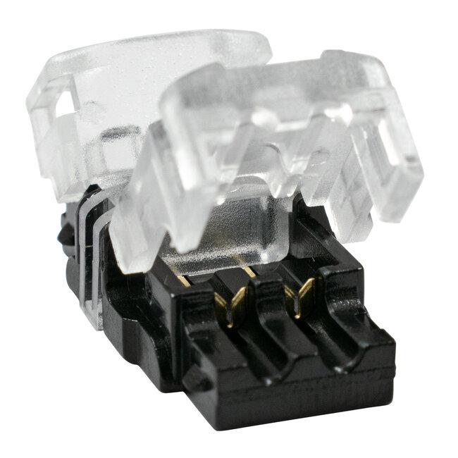 GloboStar® 70714 Ταχυσύνδεσμος Ένωσης IP20 - Strip To Cable Connector για Ένωση 1 x Μονόχρωμης Ταινίας LED Πλάτους 8mm με 1 x Καλώδιο Τροφοδοσίας - 4