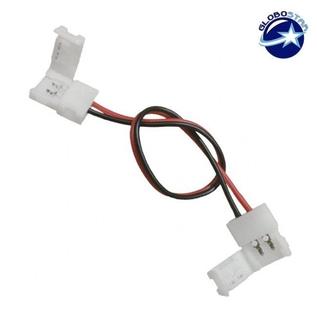 Διπλος Connector 8mm 15cm Για Ταινία LED 4.8 Watt GloboStar 77404