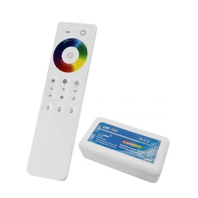 Σετ Ασύρματο RF 2.4G LED Controller Αφής RGB 12-24 Volt για Ένα Group GloboStar 04042