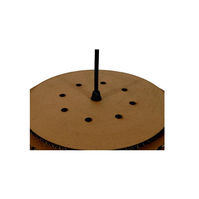 Vintage Κρεμαστό Φωτιστικό Οροφής Μονόφωτο 3D από Επεξεργασμένο Σκληρό Καφέ Χαρτόνι Καμπάνα Φ40 GloboStar CRETE 01289 - 7