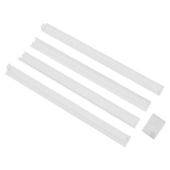 Πλαίσιο Στήριξης PVC Επιτοίχιας Τοποθέτησης για LED Πάνελ 60x60 Λευκό GloboStar 01816 - 2