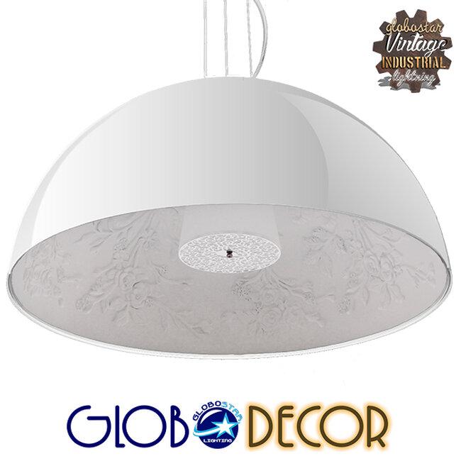 Μοντέρνο Κρεμαστό Φωτιστικό Οροφής Μονόφωτο Λευκό Γύψινο Καμπάνα Φ90  SERENIA WHITE 01273 - 1