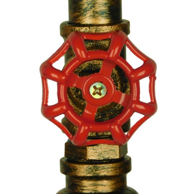 Vintage Industrial Κρεμαστό Φωτιστικό Οροφής Μονόφωτο Μπρούτζινο Μεταλλικό GloboStar SPIGOT 01413 - 7