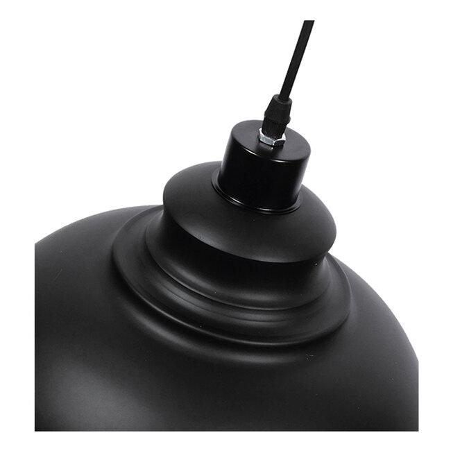 Μοντέρνο Κρεμαστό Φωτιστικό Οροφής Μονόφωτο Μαύρο Μεταλλικό Καμπάνα Φ35  ANDY 01000 - 5