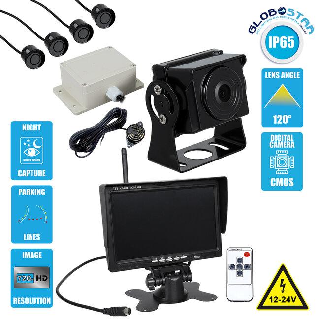 86033 Έγχρωμη Κάμερα 720p CMOS HD Οπισθοπορείας Αυτοκινήτου-Φορτηγού DC 12-24V 170° με Οθόνη 7