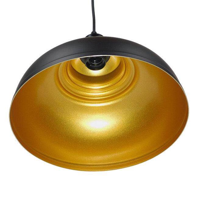 Μοντέρνο Κρεμαστό Φωτιστικό Οροφής Μονόφωτο Μαύρο Μεταλλικό Καμπάνα Φ35  ANDY 01000 - 3