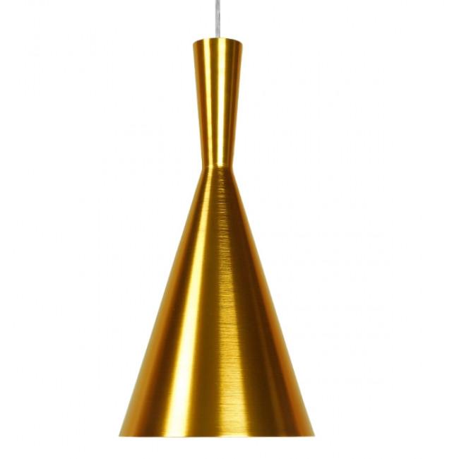 Μοντέρνο Κρεμαστό Φωτιστικό Οροφής Μονόφωτο Χρυσό Μεταλλικό Καμπάνα Φ18 GloboStar HUZHOU 01546 - 3