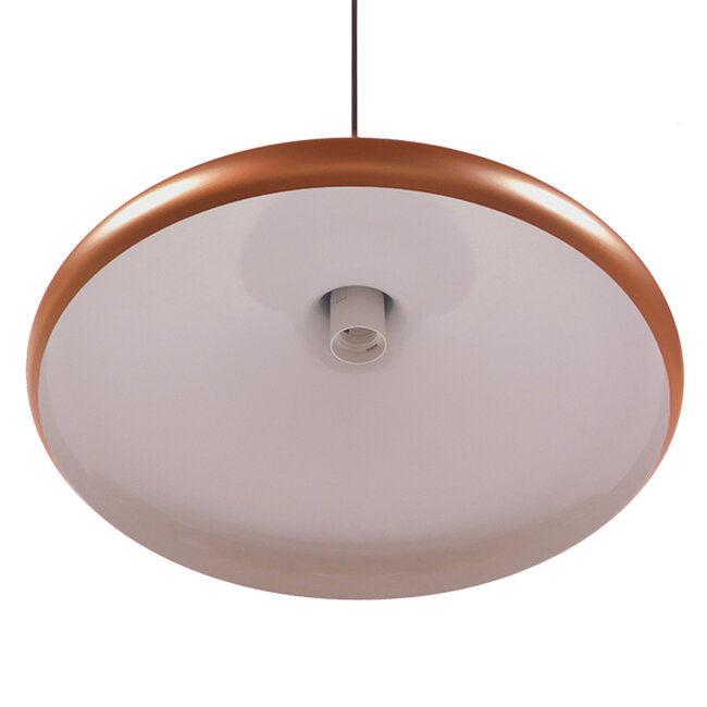 Μοντέρνο Κρεμαστό Φωτιστικό Οροφής Μονόφωτο Χάλκινο Μεταλλικό Καμπάνα Φ39  FERCLA 01223 - 5