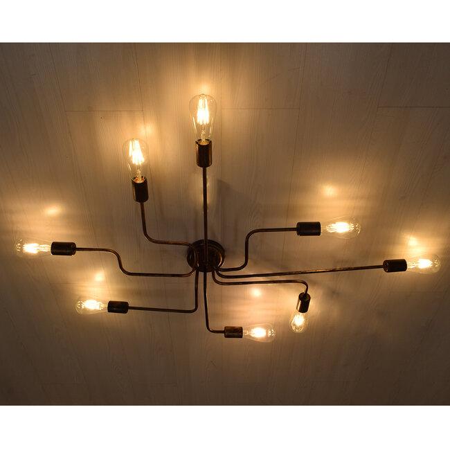 LIBERTA 00841 Μοντέρνο Φωτιστικό Οροφής Πολύφωτο Χάλκινο Σκουριά Μ102 x Π72 x Υ10.5cm - 3