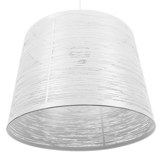 Μοντέρνο Industrial Κρεμαστό Φωτιστικό Οροφής Μονόφωτο Μεταλλικό Λευκό Καμπάνα Φ35  ACCADEMIA 01557 - 6