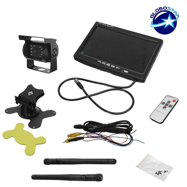 Ασύρματη Wireless Κάμερα Οπισθοπορείας CMOS Signal με Οθόνη 7