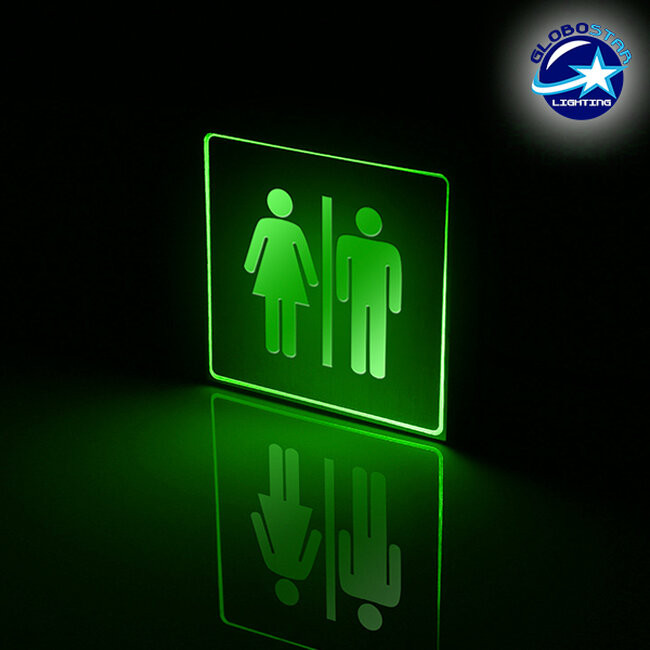 Φωτιστικό LED Σήμανσης Αλουμινίου WC GloboStar 75511 - 2