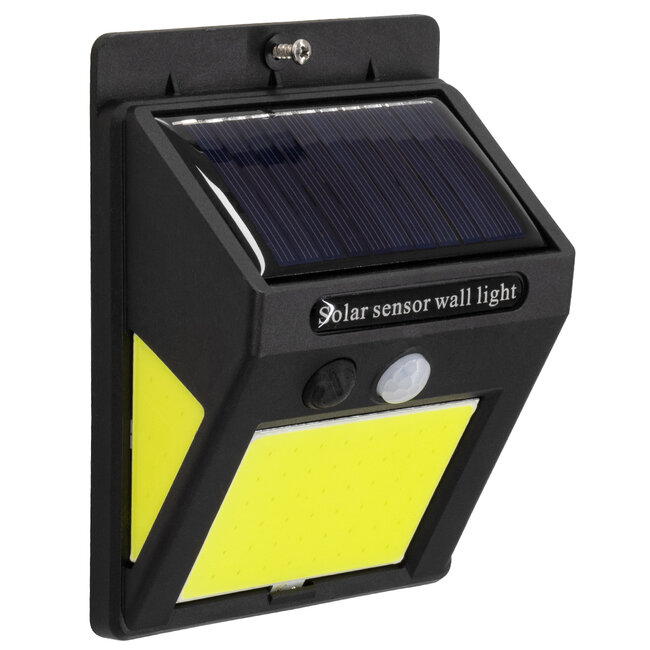 71496 Αυτόνομο Ηλιακό Φωτιστικό LED COB 12W 1200lm με Ενσωματωμένη Μπαταρία 1200mAh - Φωτοβολταϊκό Πάνελ με Αισθητήρα Ημέρας-Νύχτας και PIR Αισθητήρα Κίνησης IP65 Ψυχρό Λευκό 6000K - 3
