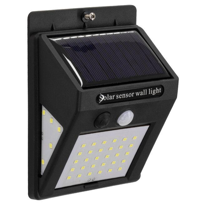 GloboStar® 71501 Αυτόνομο Ηλιακό Φωτιστικό LED SMD 8W 800lm με Ενσωματωμένη Μπαταρία 1200mAh - Φωτοβολταϊκό Πάνελ με Αισθητήρα Ημέρας-Νύχτας και PIR Αισθητήρα Κίνησης IP65 Ψυχρό Λευκό 6000K - 3