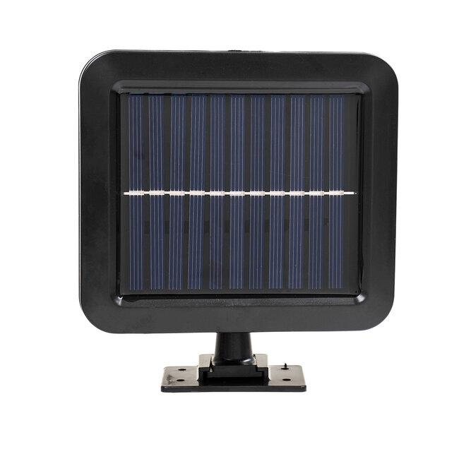 71462 Αυτόνομος Ηλιακός Προβολέας LED 128 4 x COB 30W 1600lm με Ενσωματωμένη Μπαταρία 2400mAh - Φωτοβολταϊκό Πάνελ με Αισθητήρα Ημέρας-Νύχτας - PIR Αισθητήρα Κίνησης Αδιάβροχο IP65 Ψυχρό Λευκό 6000K - 6