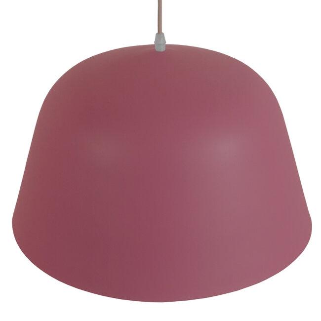 Μοντέρνο Κρεμαστό Φωτιστικό Οροφής Μονόφωτο Ροζ Μεταλλικό Καμπάνα Φ40  SOUTHVALE 01284 - 6