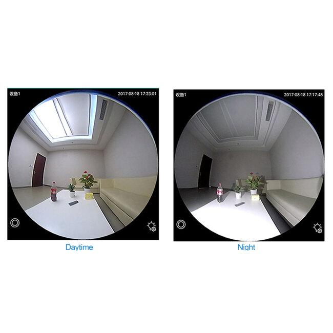 76073 WIFI 2.4G IP CAMERA 2.0MP 1080P - Έξυπνη Κρυφή IP Κάμερα WiFi 1080P Fish Eye 360° 3W LED σε Σχήμα Λάμπας με Ντουί και Βάση E27 Smart Home - 12