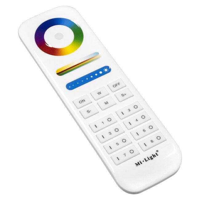 GloboStar® 73426 Ασύρματο Χειριστήριο Αφής έως 8 Group Wireless RF 2.4Ghz LED RGBW+WW Smart Touch Panel 8-Zone Mi-Light FUT089 433MHz RF 2.4G - 3