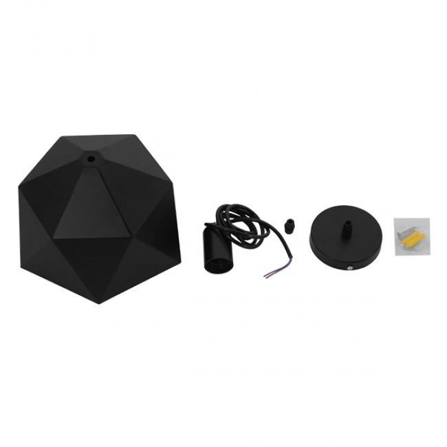 Μοντέρνο Κρεμαστό Φωτιστικό Οροφής Μονόφωτο Μαύρο Χρυσό Μεταλλικό Καμπάνα Φ46  SYLRA 01195 - 7